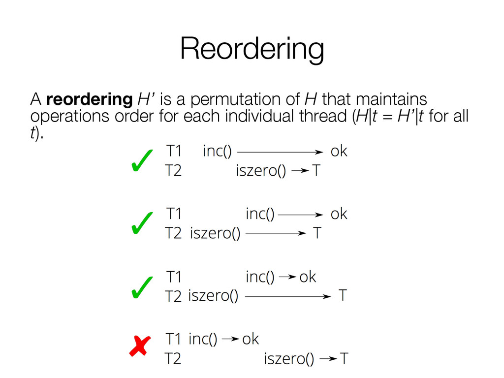 Reordering