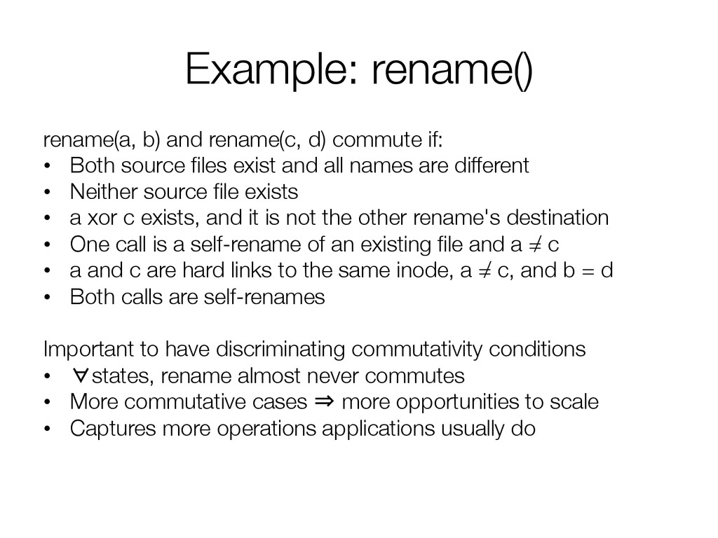 Example: rename()