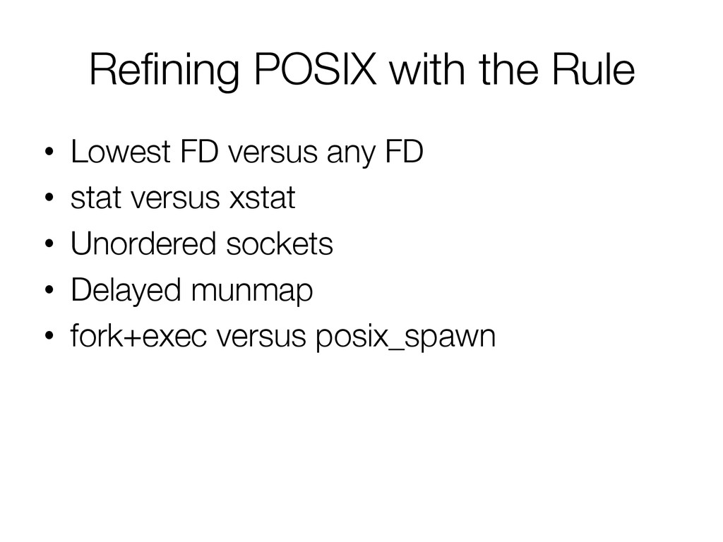 Refining POSIX with the Rule