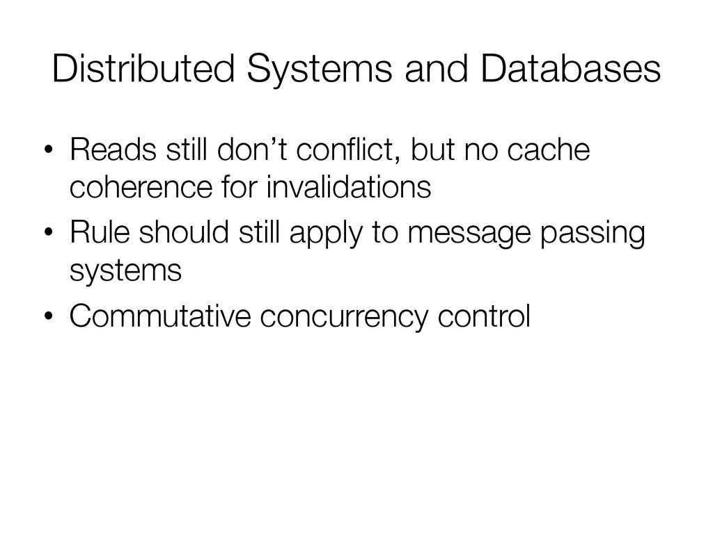 Distributed Systems and Databases