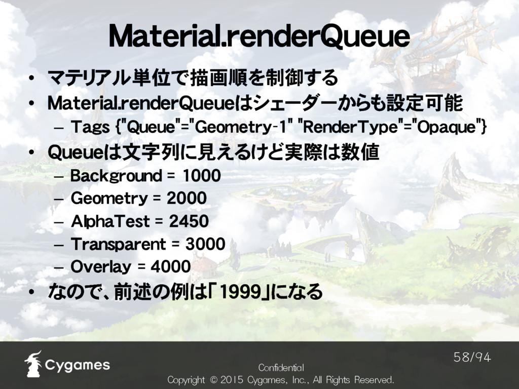 Material.renderQueue $POGJEFOUJBM $PQZSJHIU ˜...