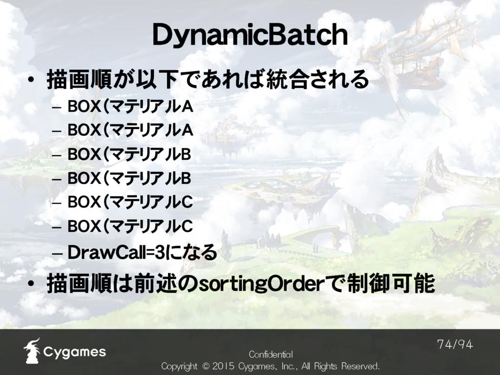 DynamicBatch $POGJEFOUJBM $PQZSJHIU ˜$ZH...