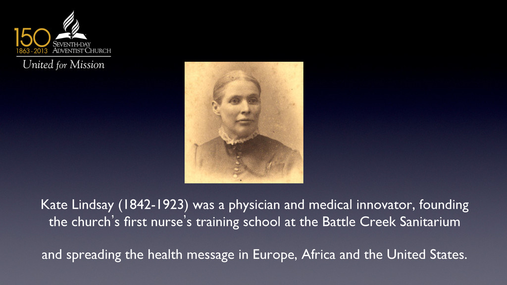 Kate Lindsay (1842-1923) was a physician and me...