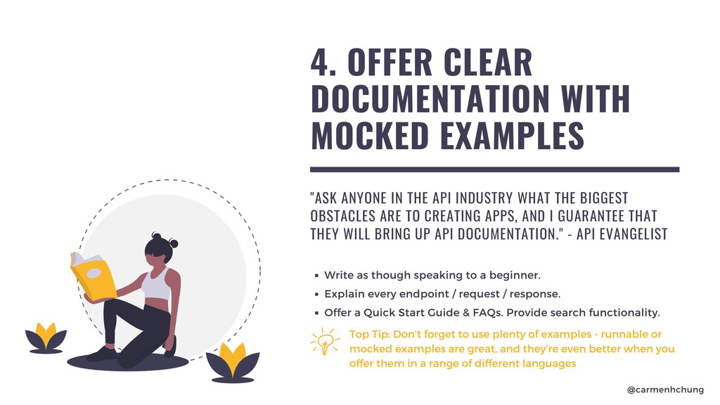 4. OFFER CLEAR DOCUMENTATION WITH MOCKED EXAMPL...