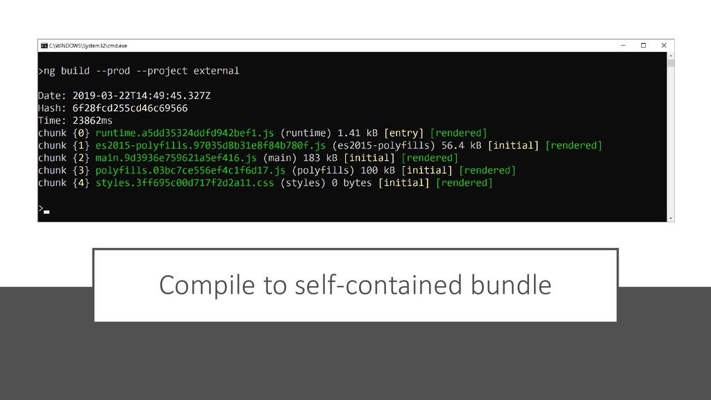 @ManfredSteyer Compile to self-contained bundle