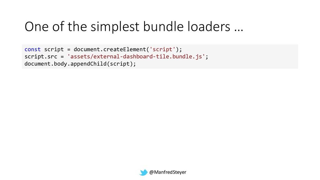 @ManfredSteyer One of the simplest bundle loade...