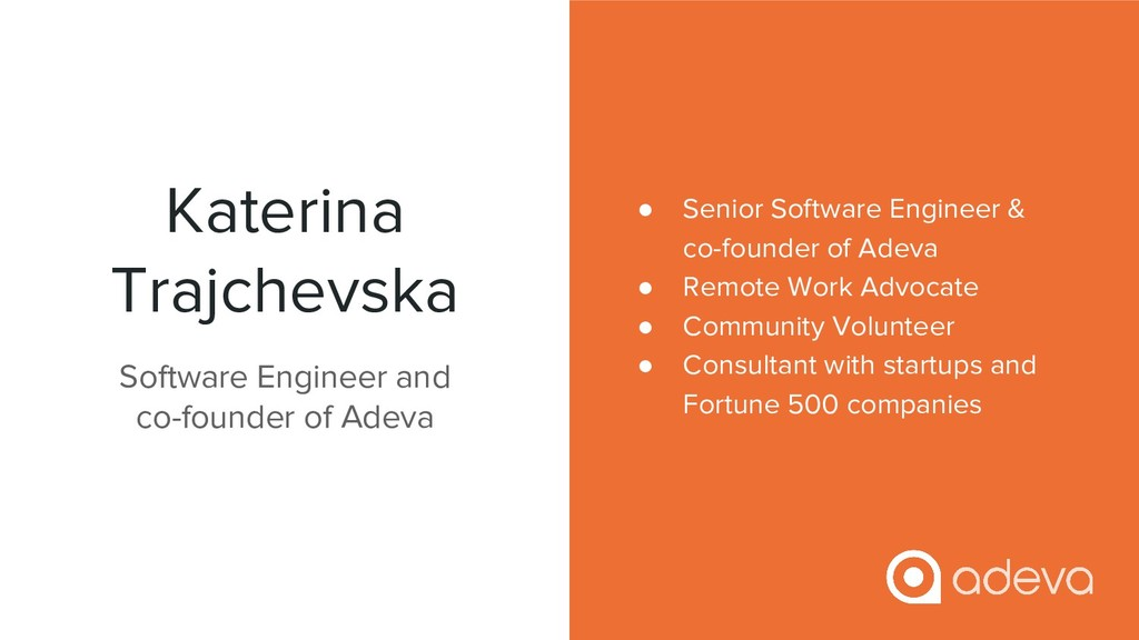 Katerina Trajchevska ● Senior Software Engineer...
