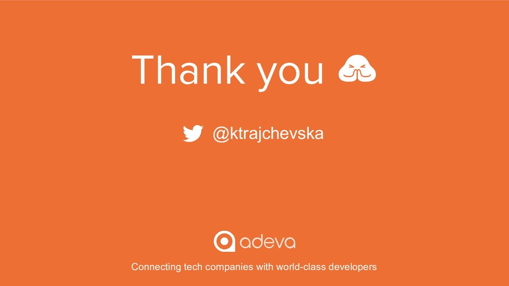 Thank you  @ktrajchevska Connecting tech compan...