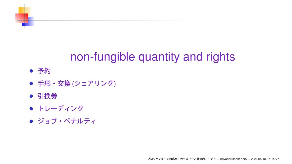 non-fungible quantity and rights ( ) : — Beyond...