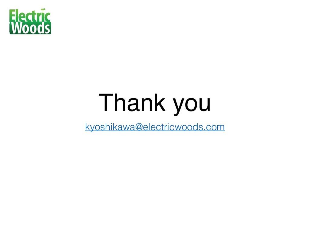 Thank you kyoshikawa@electricwoods.com