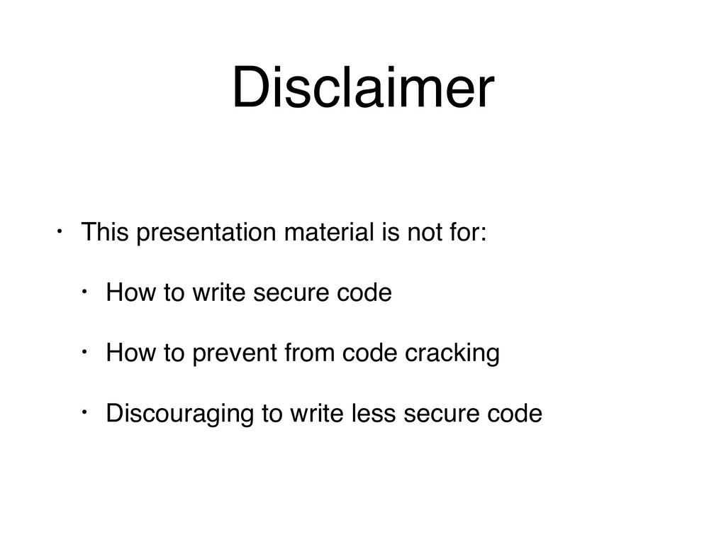 Disclaimer • This presentation material is not ...