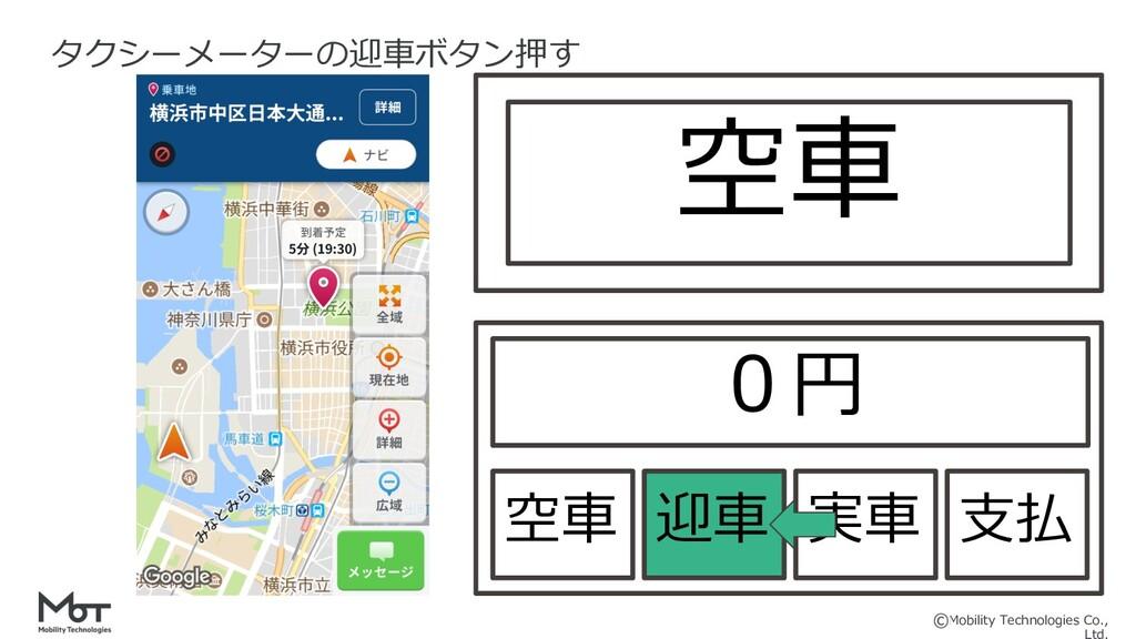 Mobility Technologies Co., タクシーメーターの迎⾞ボタン押す 空⾞ ...