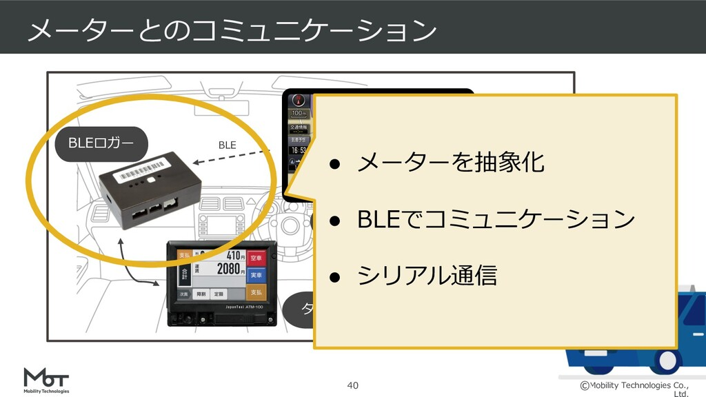 Mobility Technologies Co., 決済機 BLEロガー メーターとのコミュ...