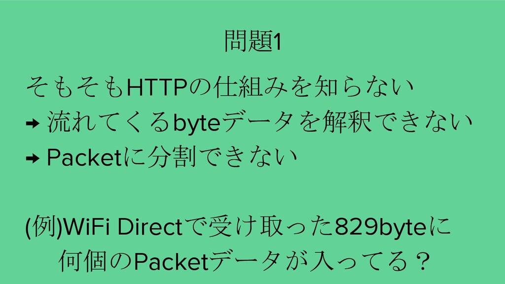 そもそもHTTPの仕組みを知らない → 流れてくるbyteデータを解釈できない → Packe...