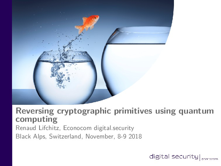 Reversing cryptographic primitives using quantu...