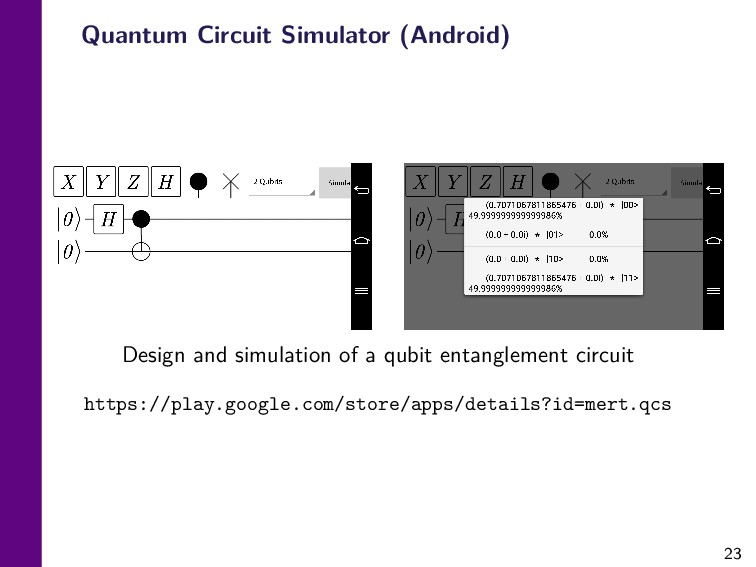 23 Quantum Circuit Simulator (Android) Design a...