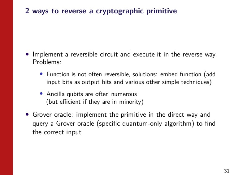 31 2 ways to reverse a cryptographic primitive ...