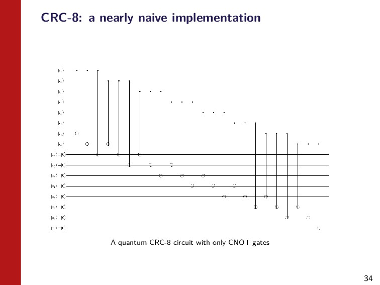 34 CRC-8: a nearly naive implementation A quant...