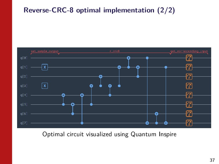 37 Reverse-CRC-8 optimal implementation (2/2) O...