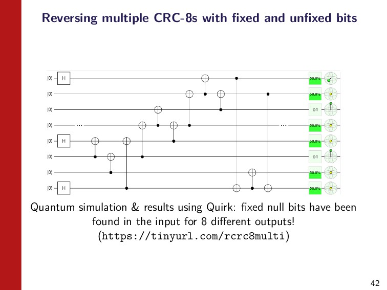 42 Reversing multiple CRC-8s with fixed and unfix...