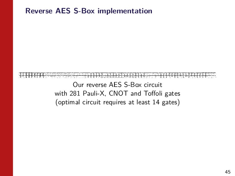 45 Reverse AES S-Box implementation Our reverse...