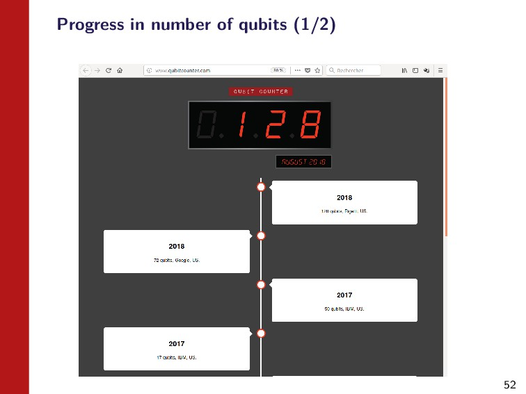 52 Progress in number of qubits (1/2)