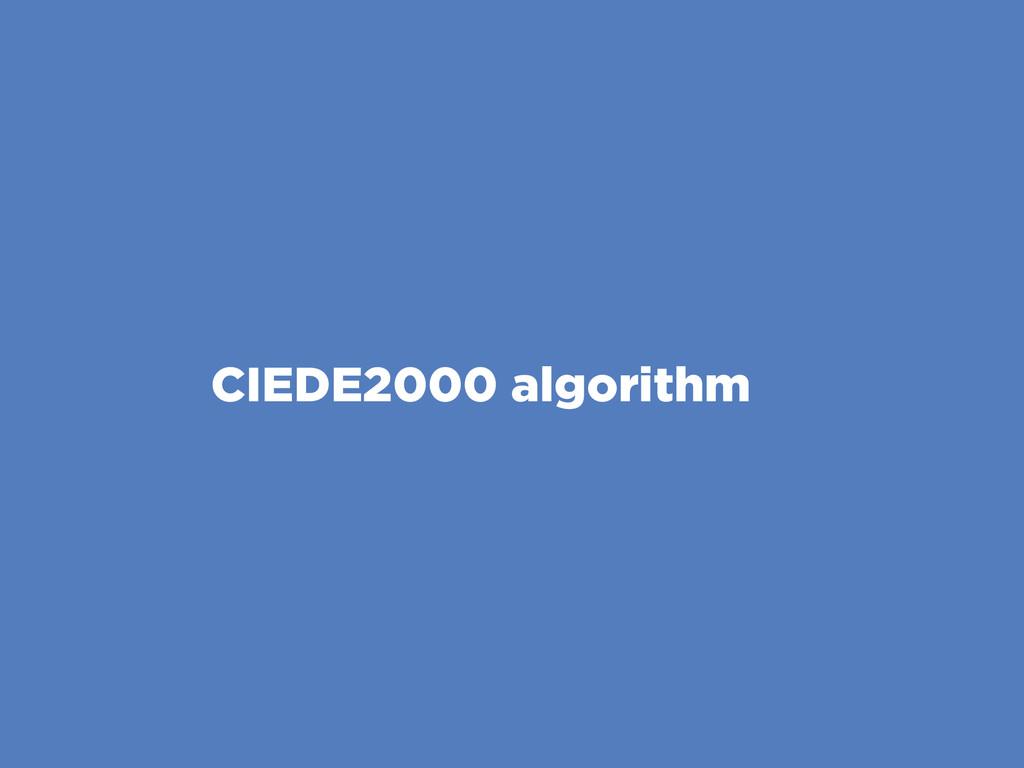 CIEDE2000 algorithm