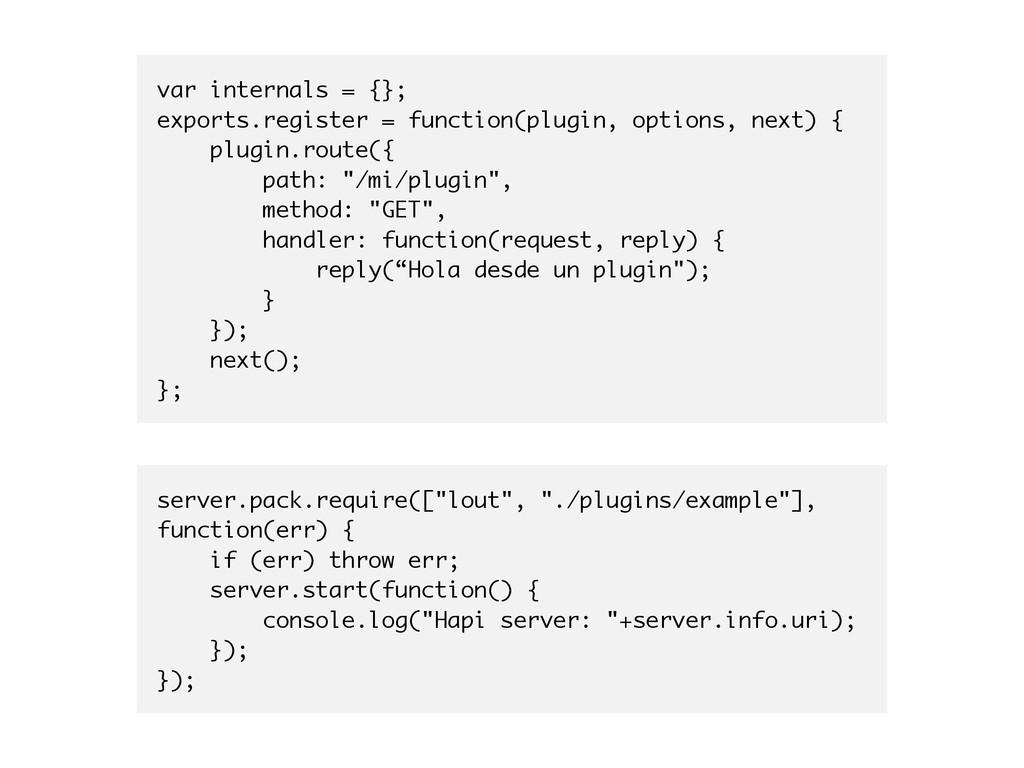 var internals = {}; exports.register = function...