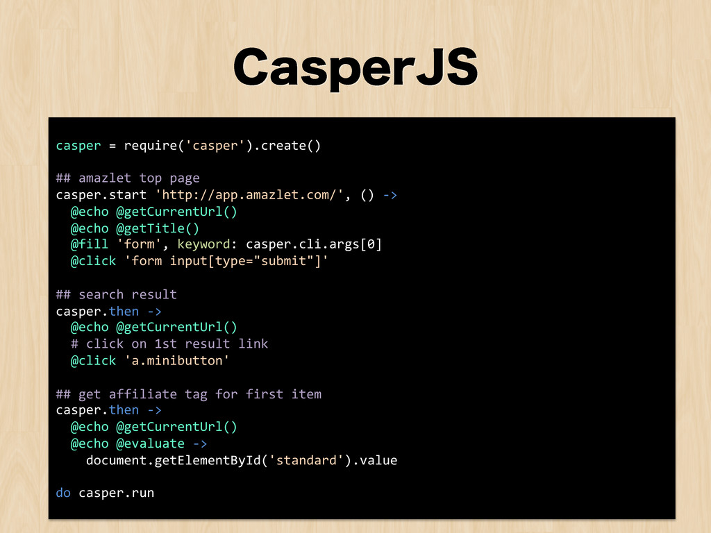 $BTQFS+4 casper = require('casper').crea...
