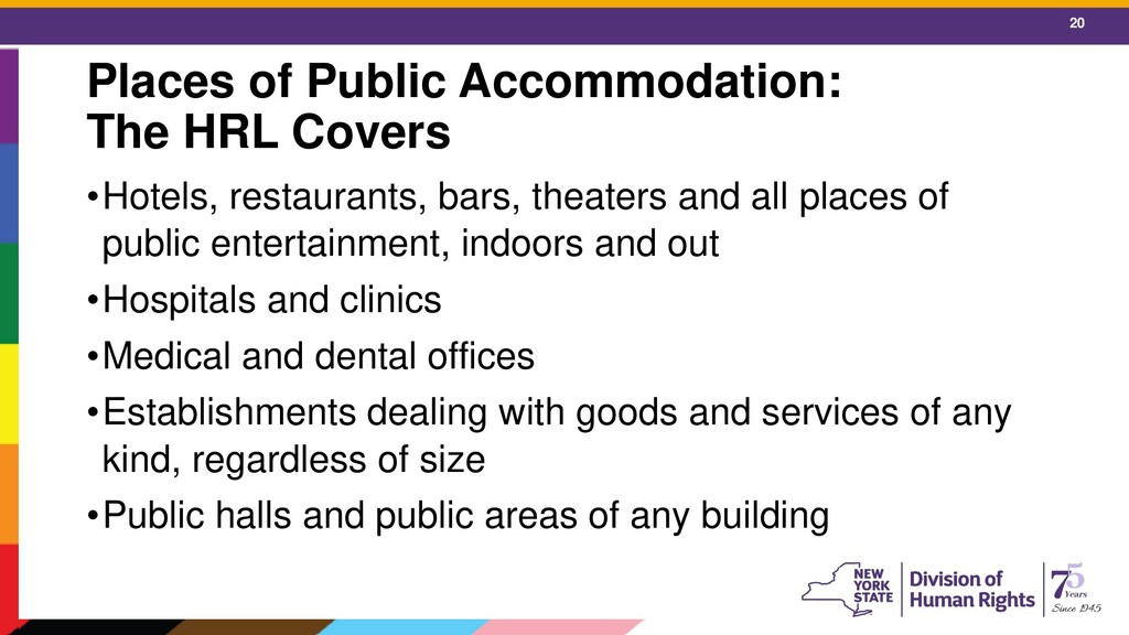 20 Places of Public Accommodation: The HRL Cove...