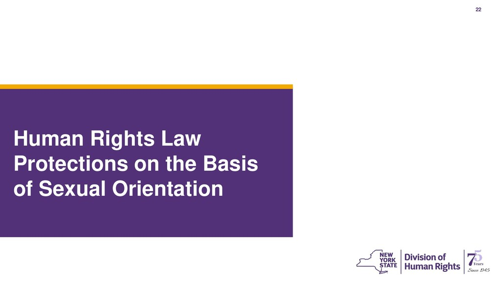 22 Human Rights Law Protections on the Basis of...