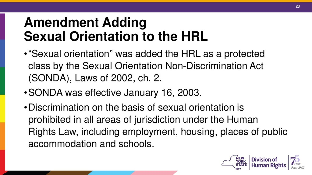23 Amendment Adding Sexual Orientation to the H...