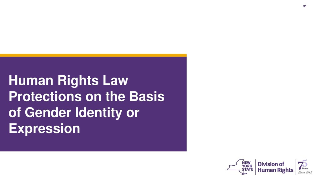 31 Human Rights Law Protections on the Basis of...