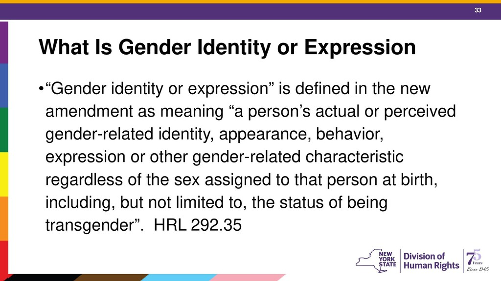 """33 What Is Gender Identity or Expression •""""Gend..."""