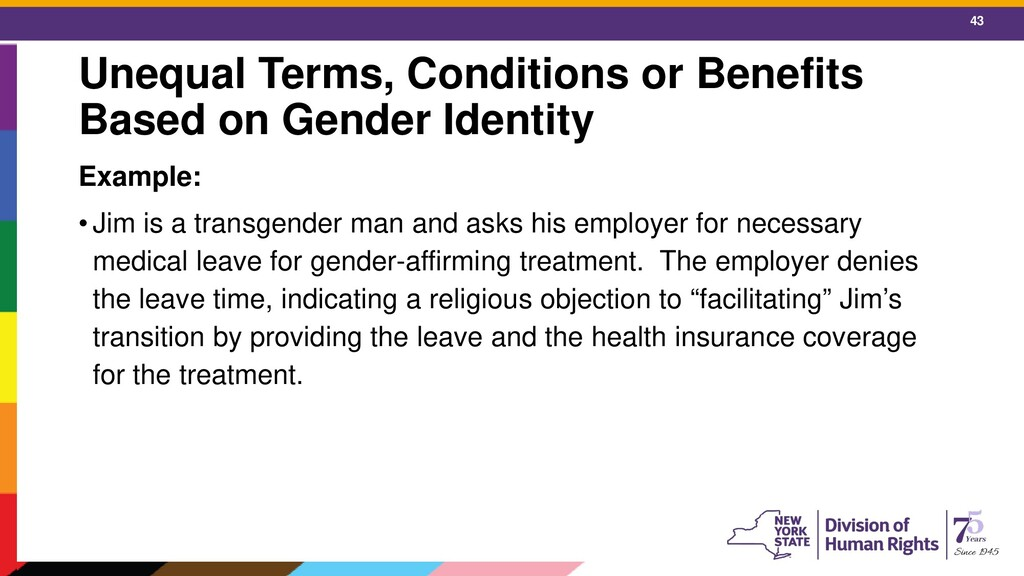 43 Unequal Terms, Conditions or Benefits Based ...