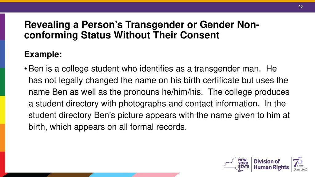 45 Revealing a Person's Transgender or Gender N...