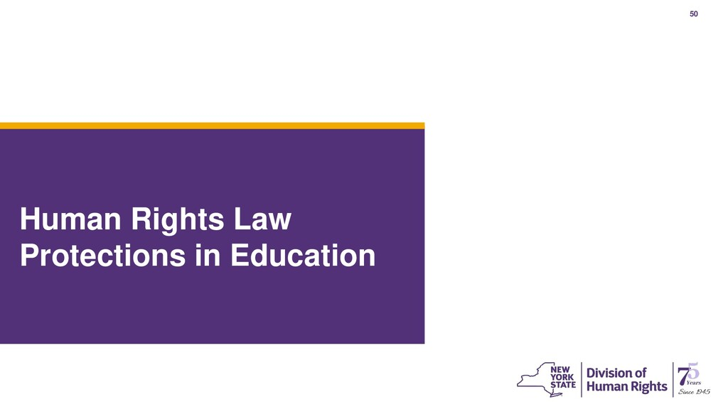 50 Human Rights Law Protections in Education