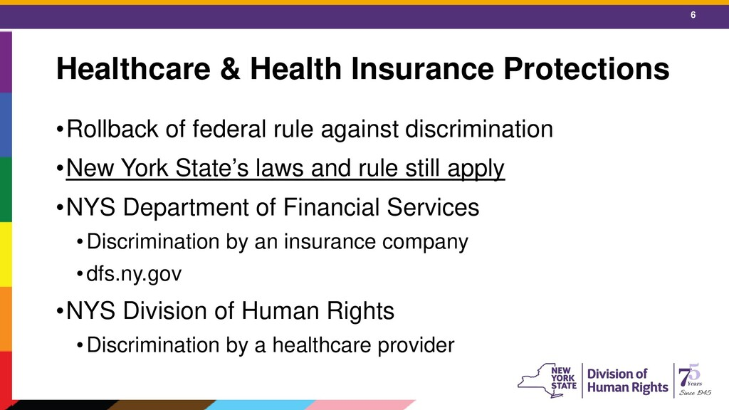6 Healthcare & Health Insurance Protections •Ro...