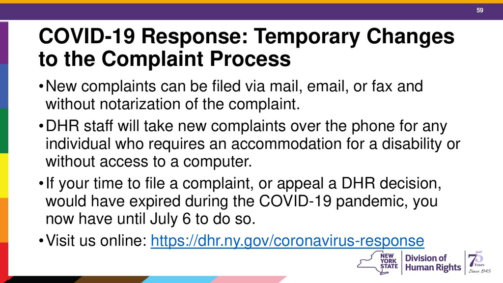 59 COVID-19 Response: Temporary Changes to the ...