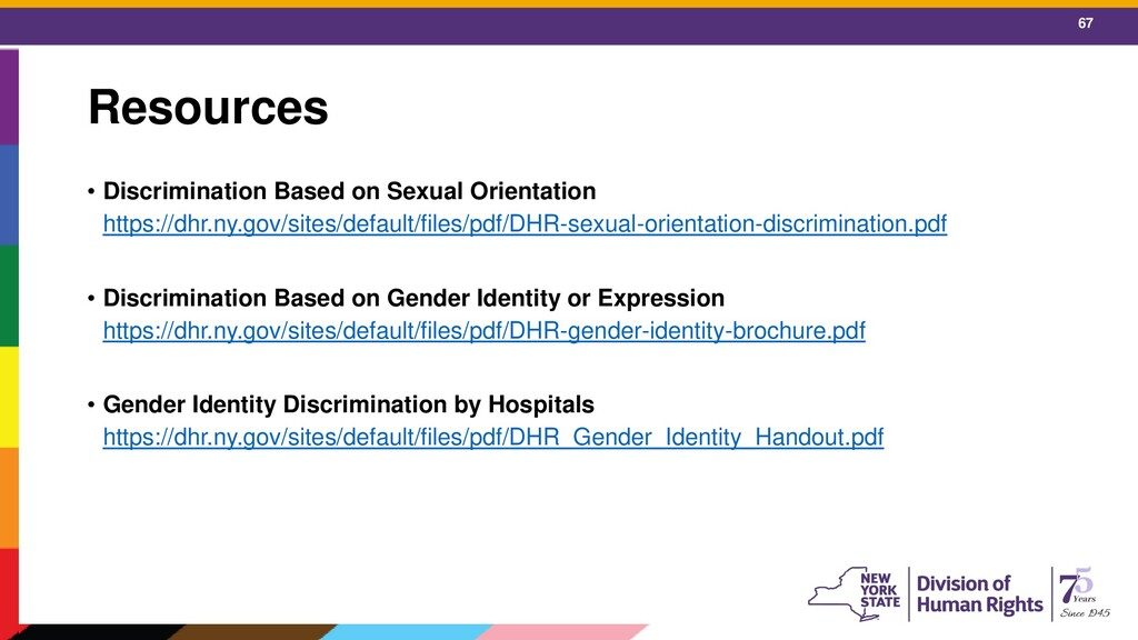 67 Resources • Discrimination Based on Sexual O...