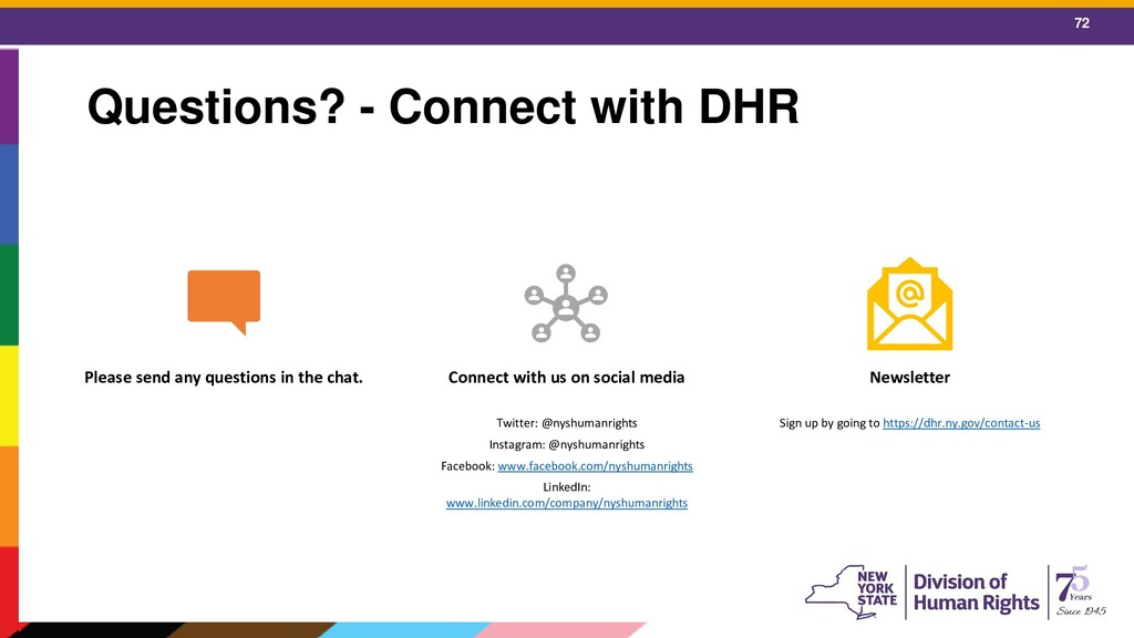 72 Questions? - Connect with DHR Please send an...