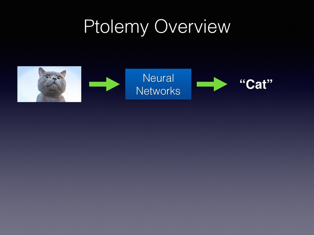 "Ptolemy Overview Neural Networks ""Cat"""