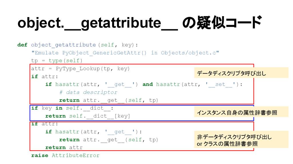 object.__getattribute__ の疑似コード def object_getat...