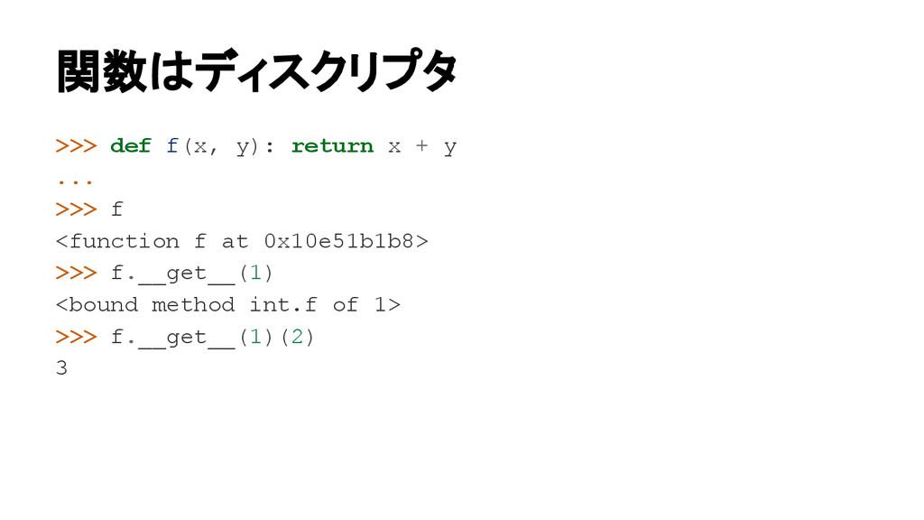 >>> def f(x, y): return x + y ... >>> f <functi...