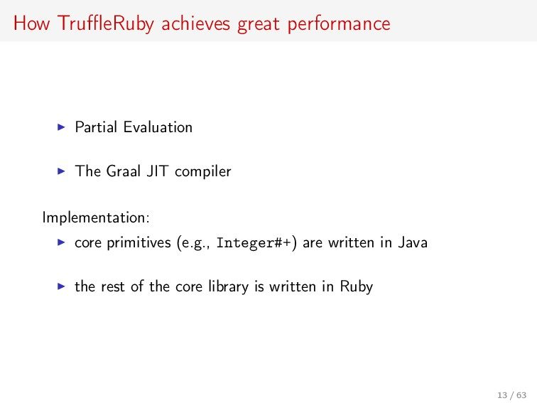 How TruffleRuby achieves great performance Partia...