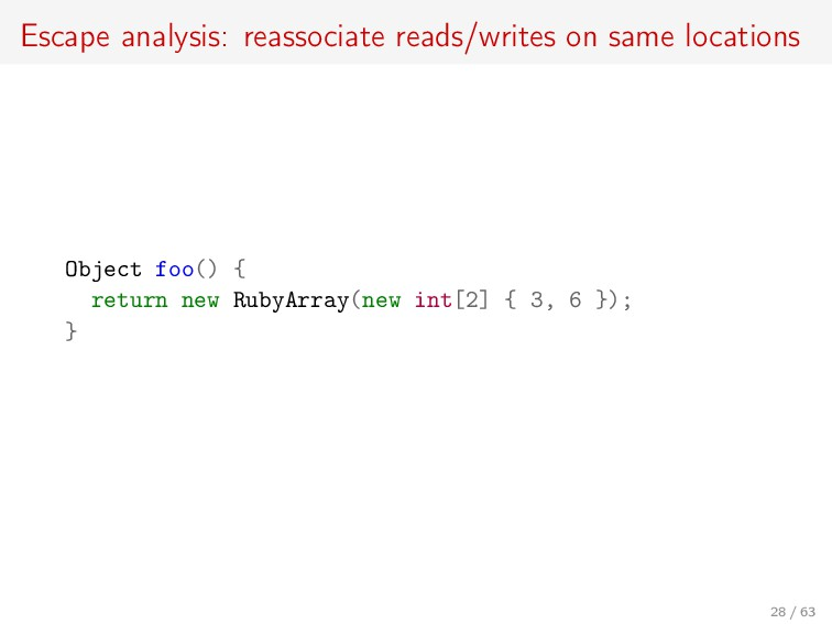 Escape analysis: reassociate reads/writes on sa...