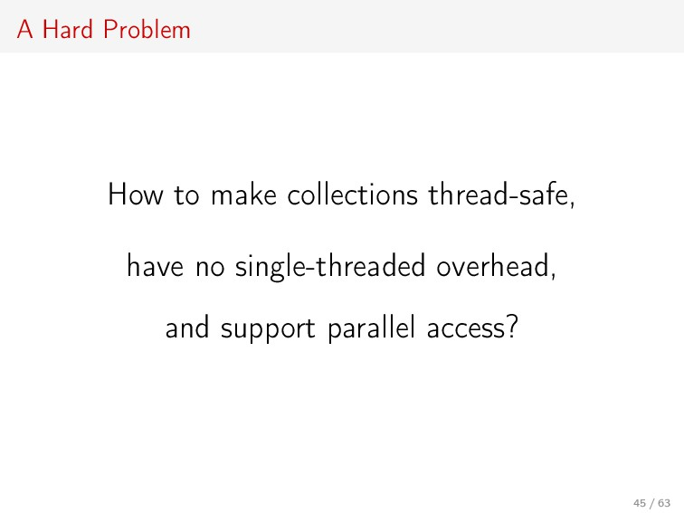 A Hard Problem How to make collections thread-s...