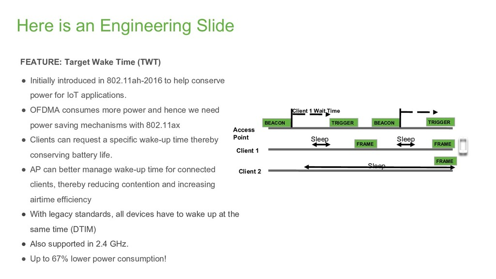 Here is an Engineering Slide FEATURE: Target Wa...