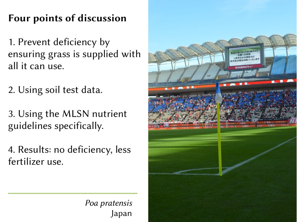 Four points of discussion 1. Prevent deficiency...