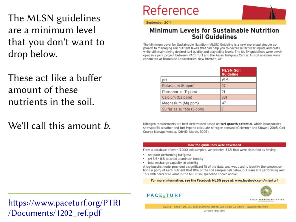 The MLSN guidelines are a minimum level that yo...